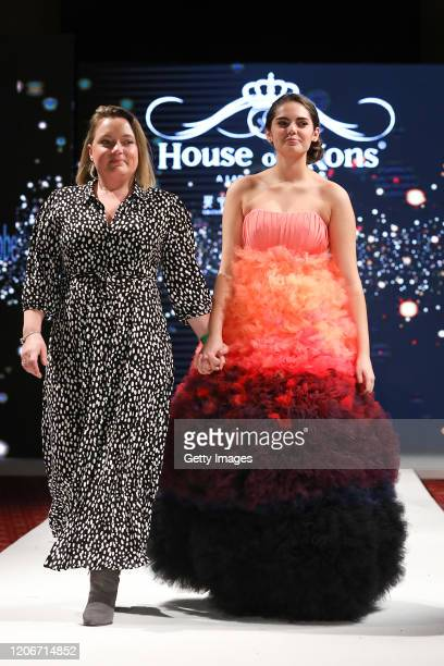 The designer walks the runway for Models Wardrobe at the House of iKons show at the Millennium Gloucester Hotel on February 16 2020 in London England
