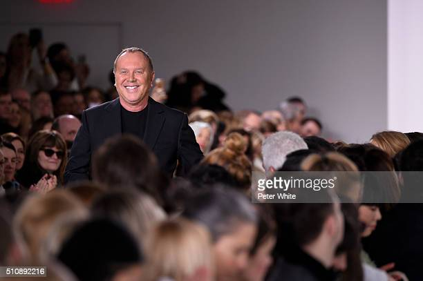 the designer walks the runway wearing Michael Kors Fall 2016 During New York Fashion Week at Spring Studios on February 17 2016 in New York City