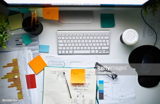 the designers desk - neat stock pictures, royalty-free photos & images