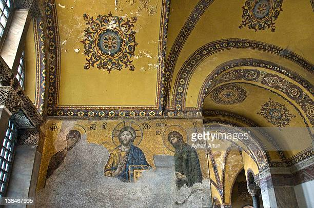 The Deësis mosaic with Christ in Hagia Sophia
