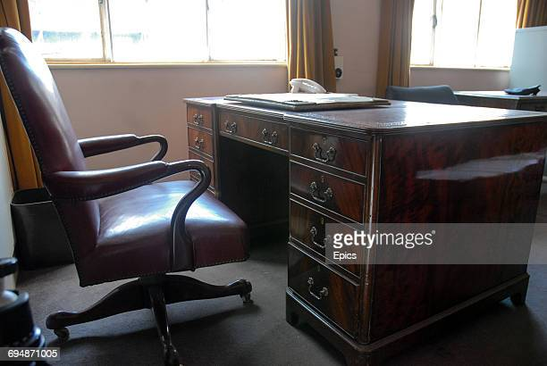 The desk in the office of photographer Bert Hardy who was the famed chief photographer For Picture Post magazine - the office was upstairs from the...