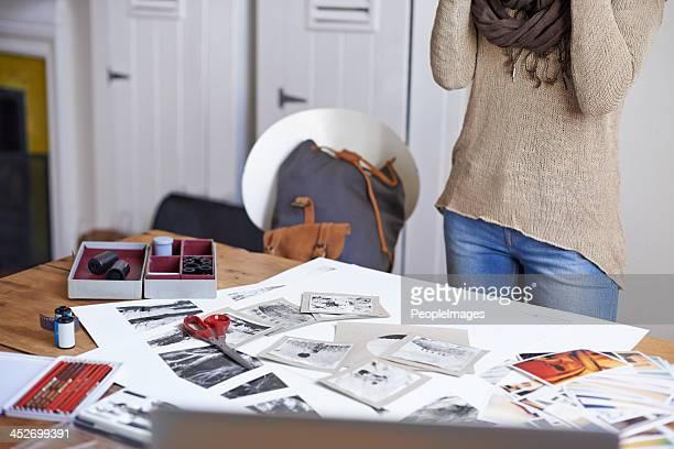 Der Schreibtisch eines kreative Seele