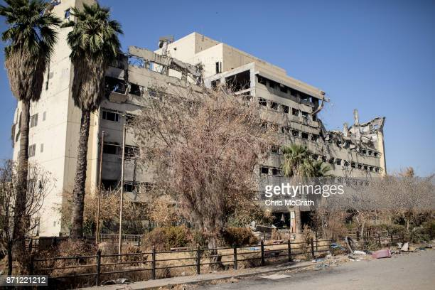 The destroyed Salam Hospital is seen on November 5 2017 in Mosul Iraq Salam Hospital Mosul's main hosptal was the scene of heavy fighting and was...