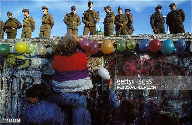 The destruction of the Berlin Wall Germany on November 11 1989