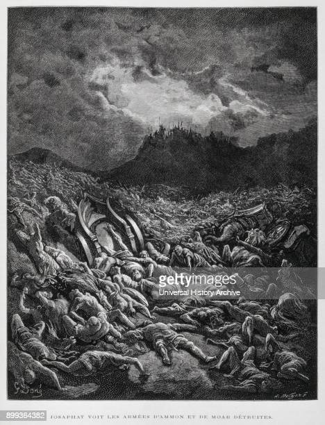 The destruction of the Moabites at Ein Gedi viewed by Jehoshaphat Illustration from the Dore Bible 1866 In 1866 the French artist and illustrator...
