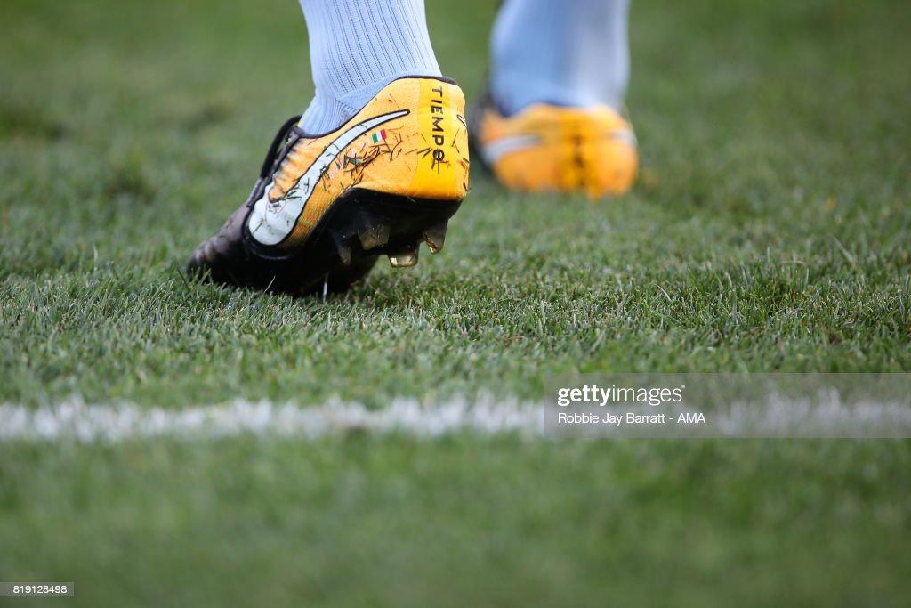 e0cc317edcf The detail of the Nike Tiempo football boots of Andrea Pirlo of New ...