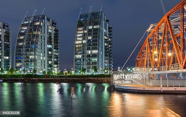 The Detroit Swing Bridge, Huron Basin, Salford Quays, Greater Manchester, England