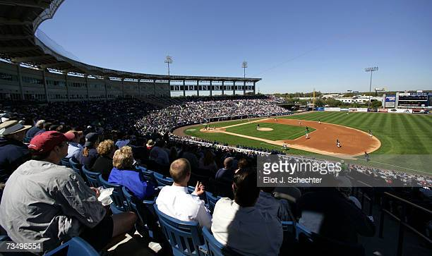 The Detroit Tigers play the New York Yankees in a spring training game March 5 2007 at Legends Field in Tampa Florida