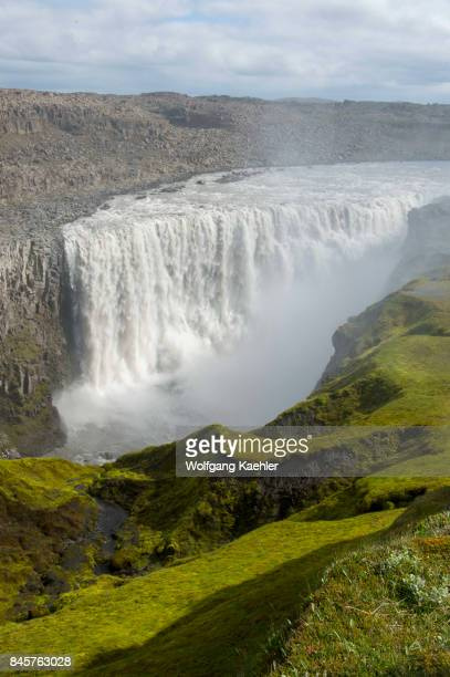 The Dettifoss a waterfall in Vatnajökull National Park in Northeast Iceland is one of the most powerful waterfalls in Europe
