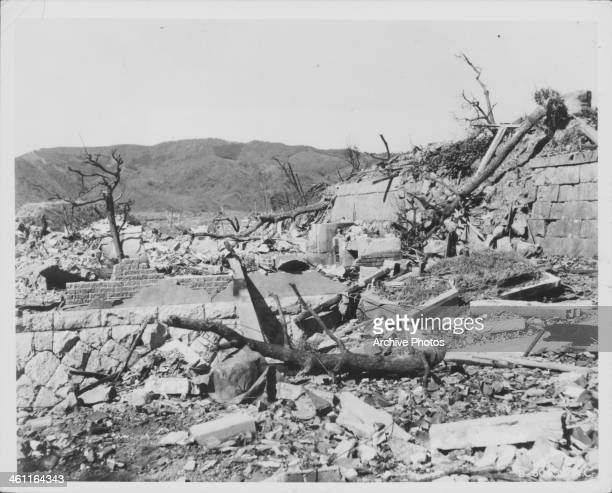 The devastation following the atomic bombing of Japan World War Two Japan October 15th 1945