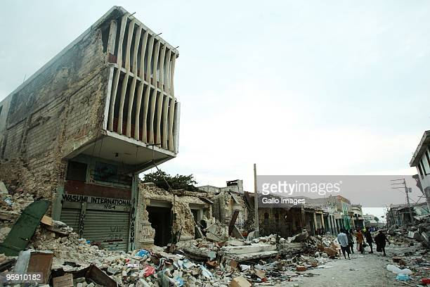 The devastation in PortauPrince in Haiti following a devastating earthquake measuring 70 on the Richter scale on January 20 2010 in PortauPrince...