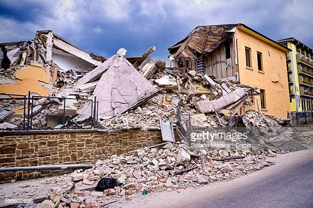 The devastation of the public school in Amatrice collapsed despite recent renovations and «seismic improvement' Italy on August 30 2016 Italy Italy...