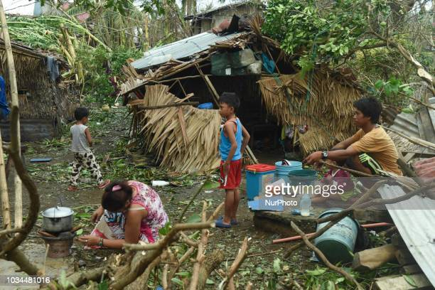 The devastation of Typhoon Mankhut is seen in the municipality of Sta Ana province of Cagayan a day after it pummelled through northern Philippines...