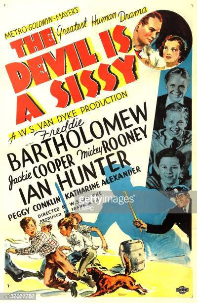 The Devil Is A Sissy poster US poster art from top Ian Hunter Peggy Conklin Jackie Cooper Mickey Rooney Freddie Bartholomew 1936