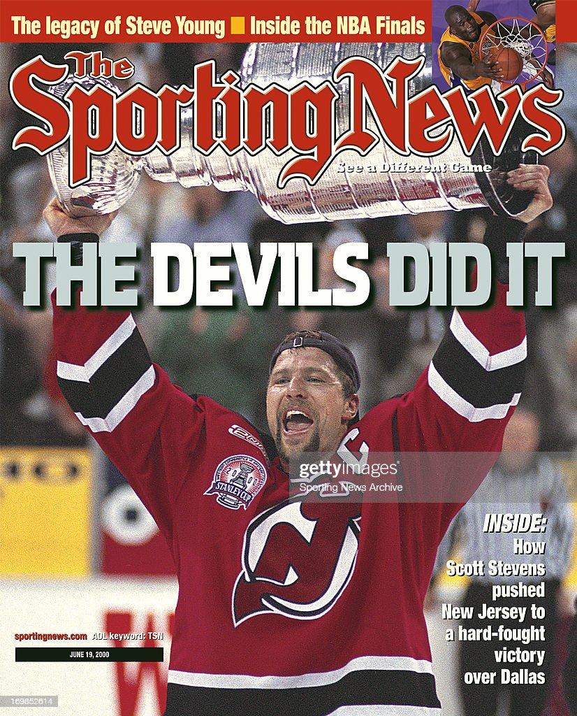 huge discount ff618 4f524 New Jersey Devils' Scott Stevens - Stanley Cup Champions ...