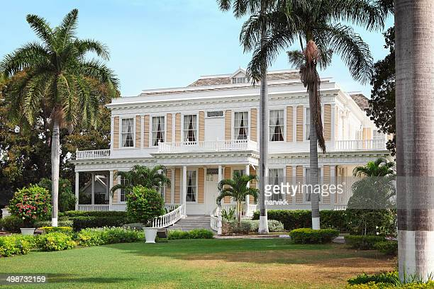 the devon house in kingston - kingston jamaica stock pictures, royalty-free photos & images