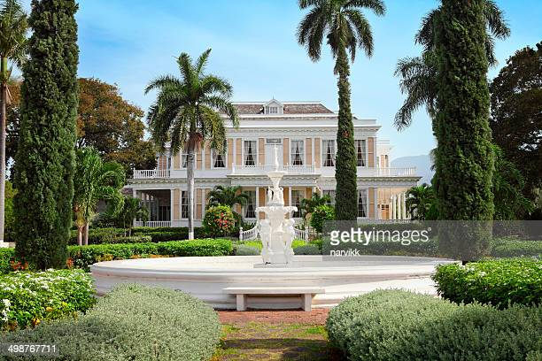 the devon house in kingston - jamaica stock pictures, royalty-free photos & images