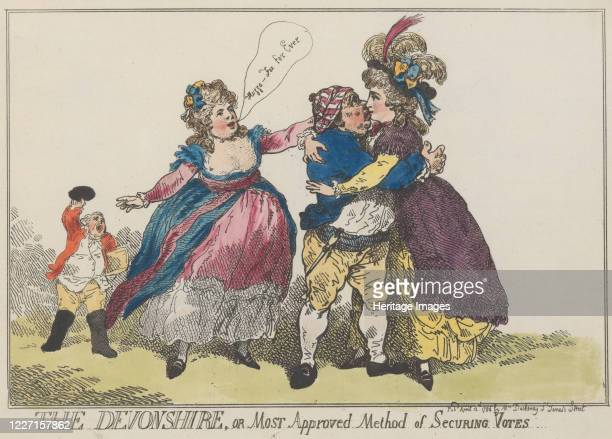 The Devonshire or Most Approved Method of Securing Votes April 12 1784 Artist Thomas Rowlandson