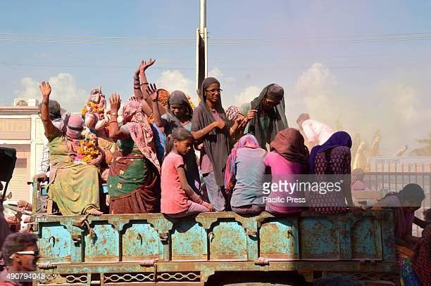 The devotees join the parade for the Lord Ganesh statue before its immersion in the water during the Ganpati Visarjan The most exuberant parts of the...