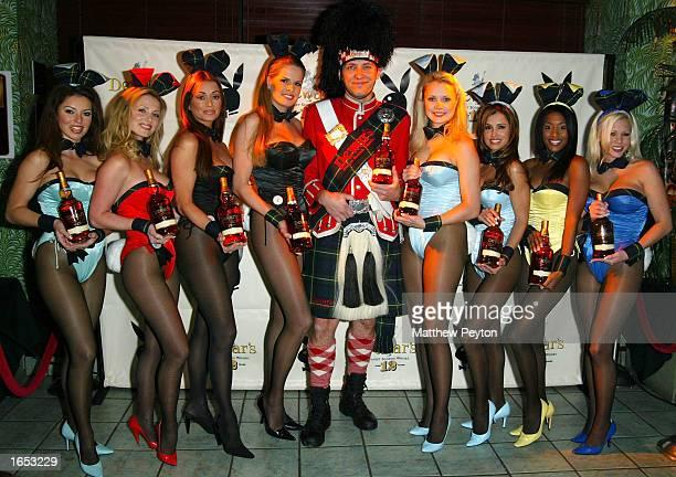 The Dewar's Highlander and Playboy Bunnies Ava Fabian Deanna Brooks Vanessa Gleason Julie Cialini Nicole Narain Stephanie Heinrich Jennifer Wolcott...