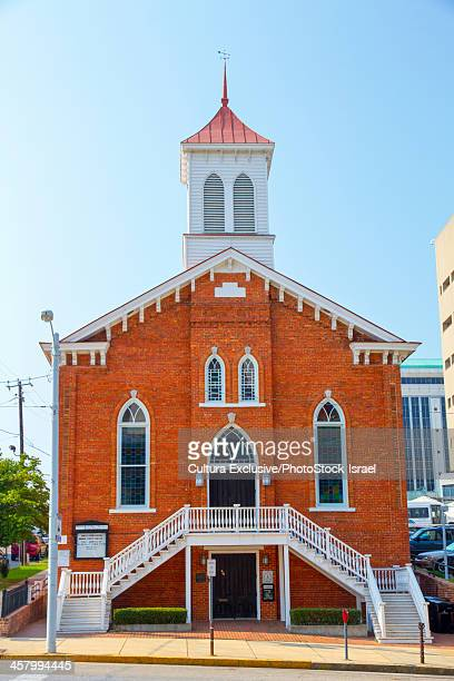the dexter avenue king memorial baptist church, where martin luther king jr. worked, montgomery, al, usa - montgomery alabama stock pictures, royalty-free photos & images