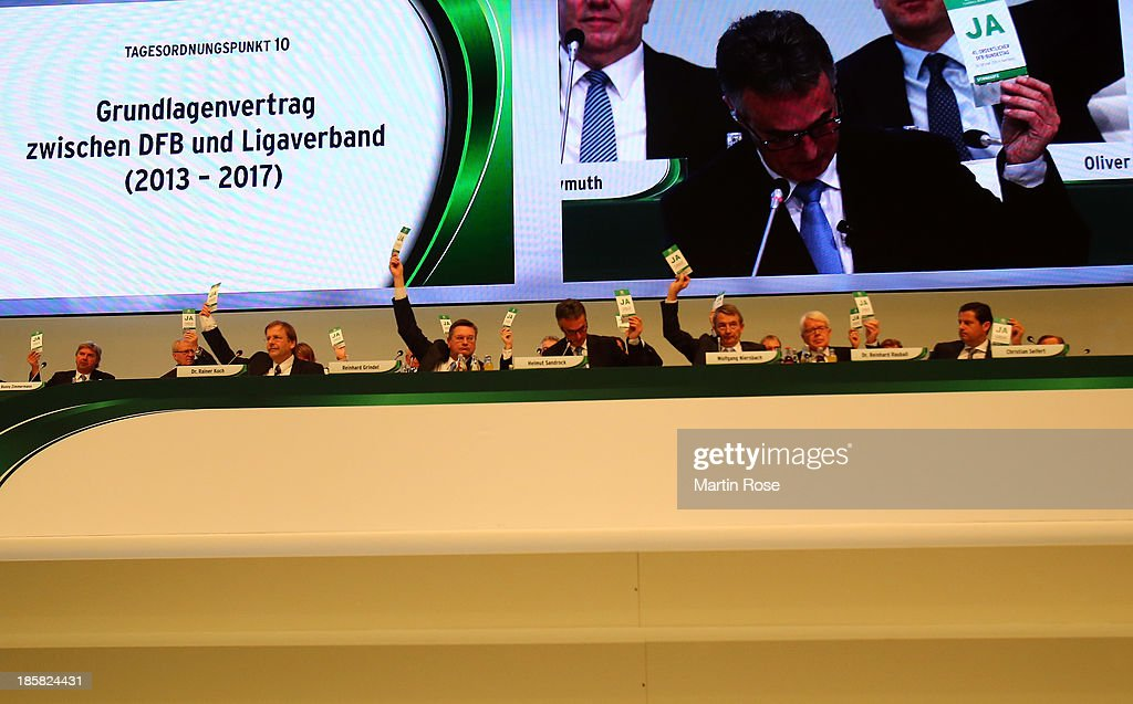 The DFB executive board is seen during the DFB Bundestag Day