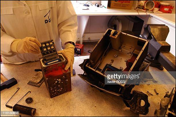 RESEDA the DGA laboratory that makes flight recorders 'talk' in Bretigny Sur Orge France in March 2003 Late generation flight recorders contain a...