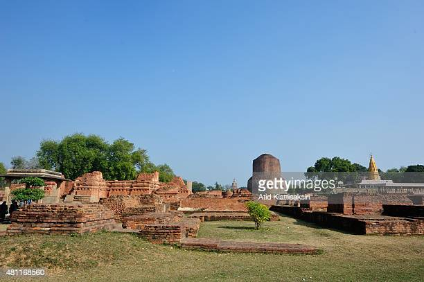 The Dhamekh Stupa along with ancient remains in Sarnath The Dhamek Stupa was built in 500 CE by king Ashoka along with several other monuments to...