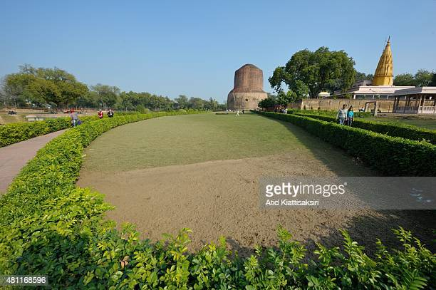 The Dhamekh Stupa in Sarnath The Dhamek Stupa was built in 500 CE by king Ashoka along with several other monuments to commemorate the Buddha's...