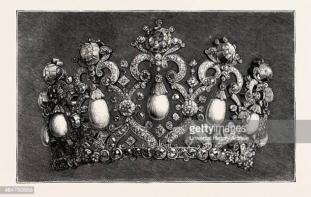 The Diadem To Be Worn By The Empress Of Germany Engraving 1890
