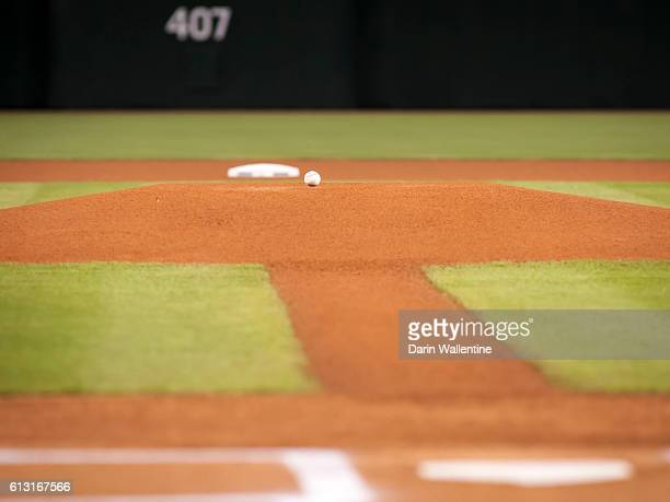 The diamond is ready for the MLB game between the San Diego Padres and Arizona Diamondbacks at Chase Field on October 2 2016 in Phoenix Arizona The...