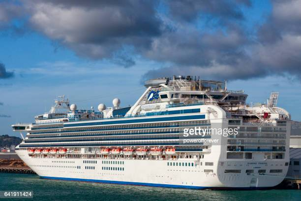 the diamond princess docked in wellington, new zealand - princess stock pictures, royalty-free photos & images