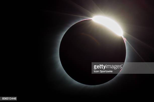 The diamond ring effect as seen during the total solar eclipse on August 21 in St Louis MO