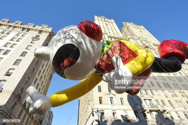 The Diary of A Wimpy Kid balloon floats down Central Park West during the 91st Annual Macy's Thanksgiving Day Parade on November 22 2017 in New York...