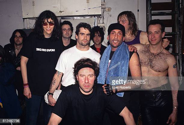 The Dictators with Henry Rollins and Joey Ramone at CBGB's in New York City on May 13, 1995.