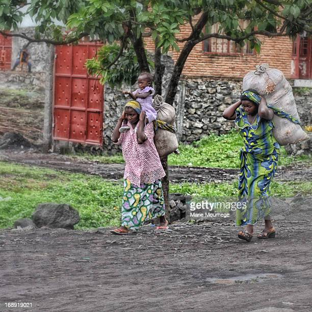 The difficult life laden with hard work that the women in the Democratic Republic of Congo lead forces them to carry loads on their backs for long...