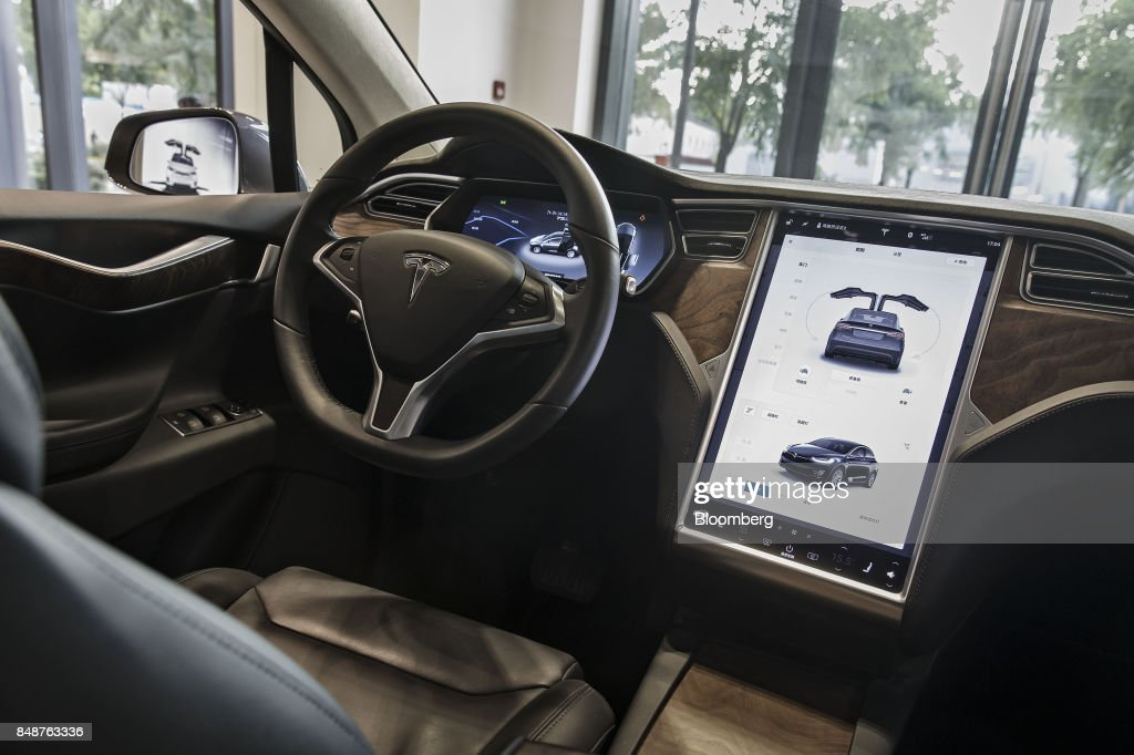 Inside Tesla Showrooms as China to Widen Foreign Access to Electric-Vehicle Market : News Photo