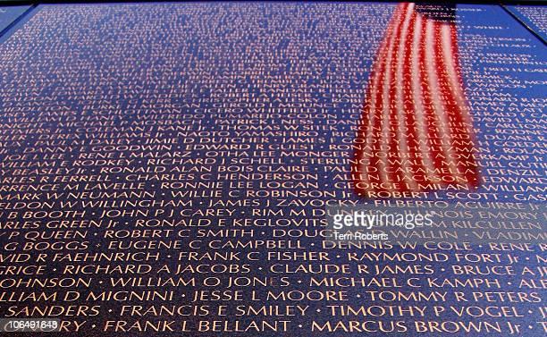 The Dignity Memorial Vietnam Wall - a traveling memorial as seen in Arlington, TX, June 2006