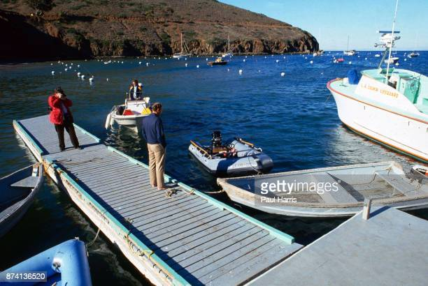 The dinghy Natalie Wood used to leave the boat Splendour and drown she had her last meal at a restaurant accessed from this dock with husband Robert...