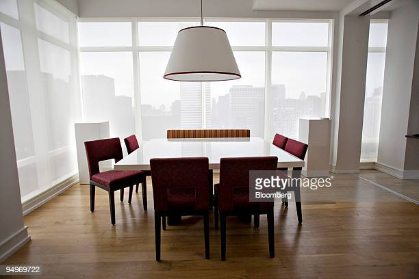 The dining area inside the apartment of Marc Dreier, founder of the law firm Dreier LLP sentenced to 20 years in prison for defrauding hedge funds,...