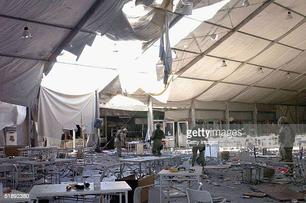 The dining area of the US military installation where according to the Pentagon a suicide bomb attack took place December 21 is seen on December 24...