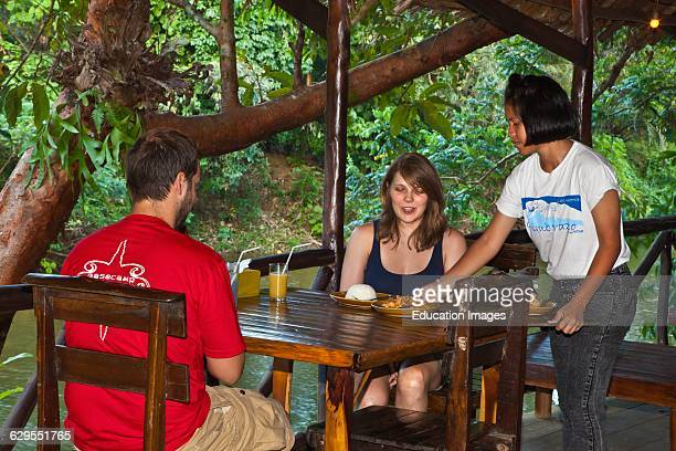 The Dining Area Over The River At The Riverside Cottages In Kho Sok A Perfect Place To Stay To Visit Kho Sok National Park Thailand