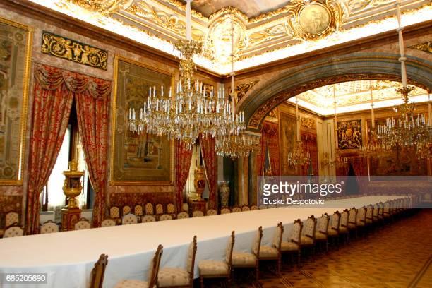 "The dining room at ""Palacio Real"". | Location: Madrid, Spain."