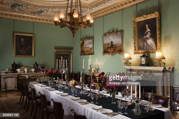 The Dining Room at Wimpole Hall, Cambridgeshire.