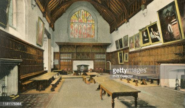 The Dining Room Eton College' 1910 Interior view of College Hall built between 1441 and 1460 at Eton College near Windsor in Berkshire The school was...