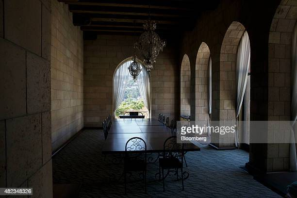 The dining room is seen at the former home of Sisters of the Most Holy and Immaculate Heart of the Blessed Virgin Mary on Waverly Drive in the Los...