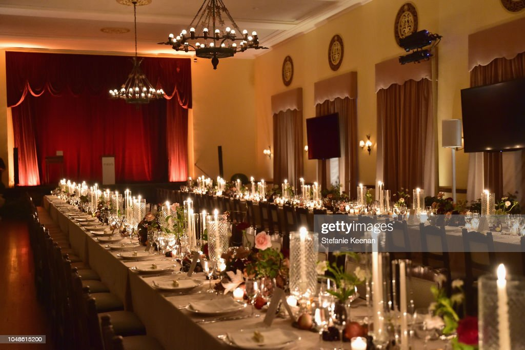 The dining room is seen at the PORTER Incredible Women Gala 2018 at ... 2b57b3314