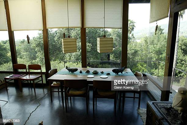 The dining room of the Payne remodel by John Lautner in San Dimas John Lautner did not design this room This shoot is for the Home of the Week...
