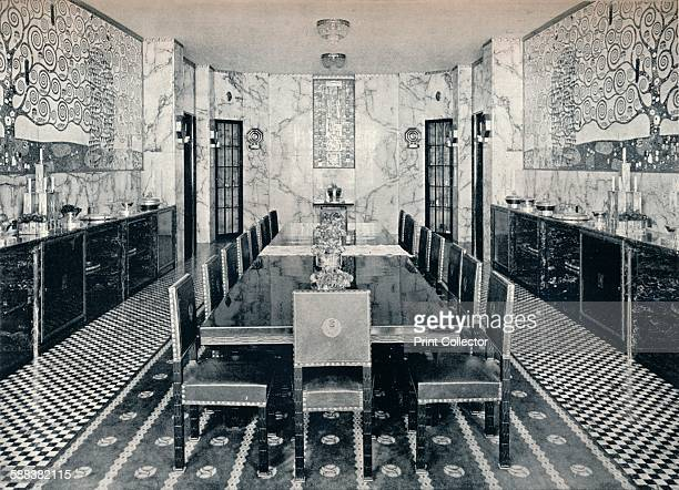 The Dining Room of the Stoclet Palace Brussels Belgium c1914 The Stoclet Palace was built by architect Josef Hoffmann for banker and art lover...