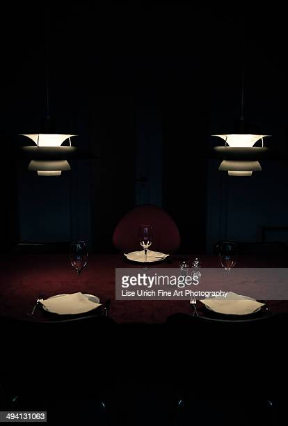 the dinner table - lise ulrich stock pictures, royalty-free photos & images